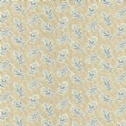 Makower UK - Something Blue - 6049 - Summerfield Floral, Blue on Cream - 8826_N - Cotton Fabric